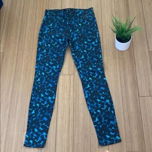 NWT J Brand indigo ink blot mid rise skinny jeans